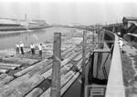 旧中川の材木置き場