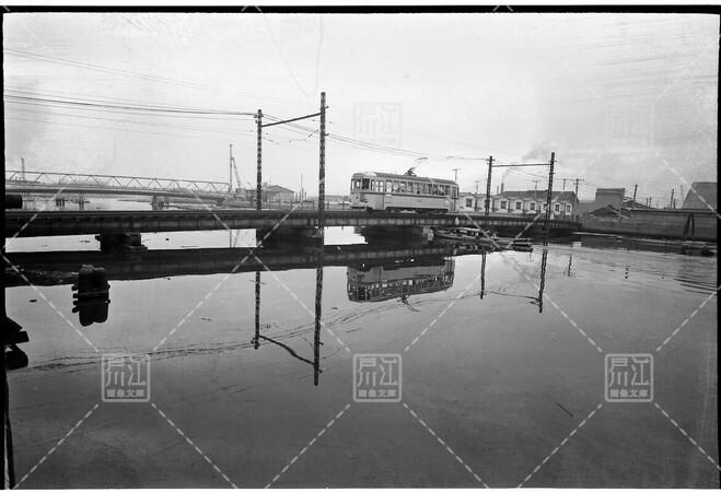 旧中川を渡る最終都電